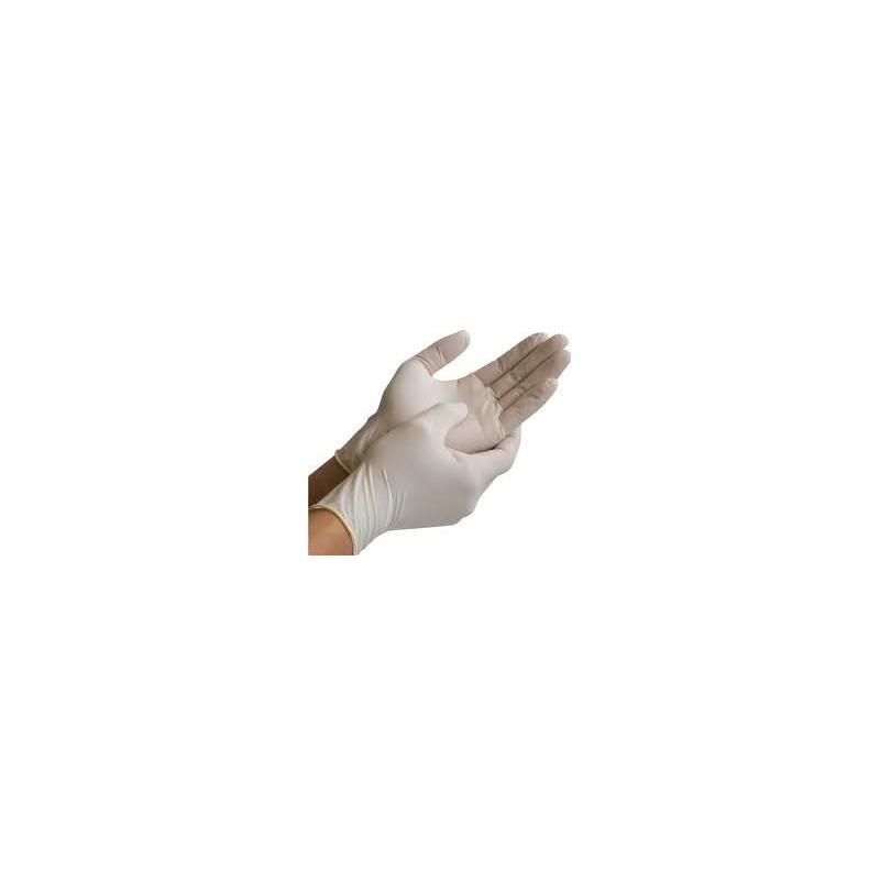 LATEX disposable gloves, powder free - box