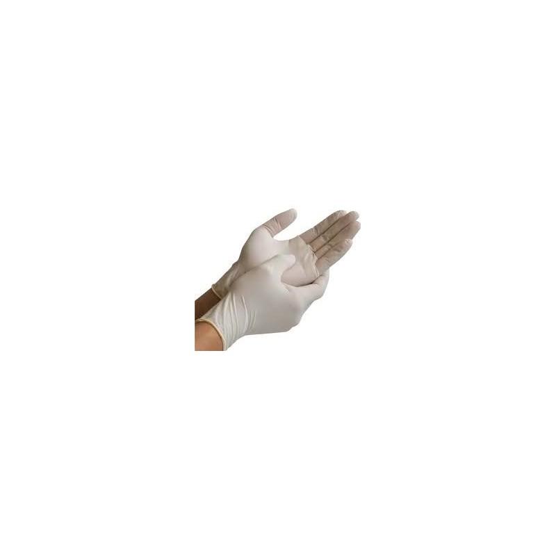 LATEX disposable gloves, powder free - box