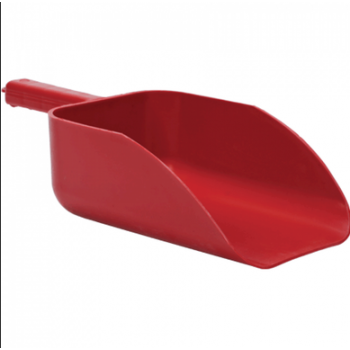 red plastic scoop