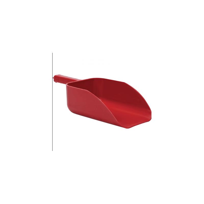 red plastic scoop