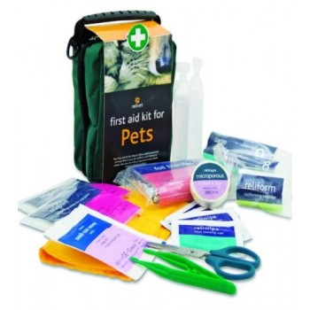 1st aid kit for pets, including tick removers