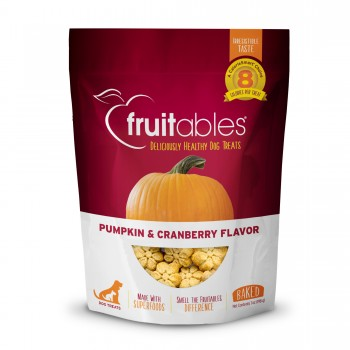 Fruitable natural dog treats - Pumpkin & Cranberry flavour