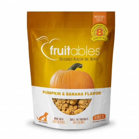 Fruitable natural dog treats - Pumpkin & Banana flavour 7oz/198gm - 80 per pack