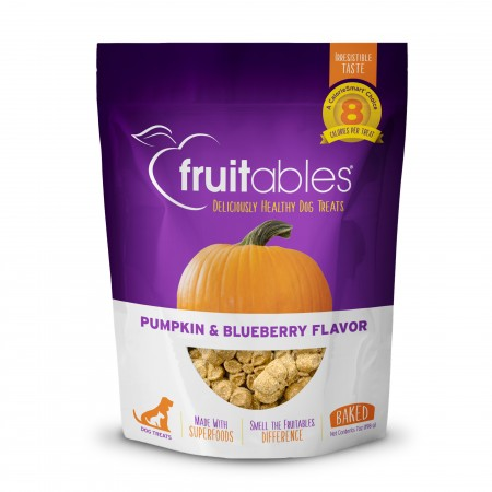 Fruitable natural dog treats - Pumpkin & Blueberry flavour 7oz/198gm - 80 treats