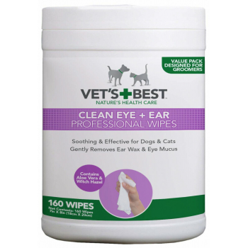 Vet's Best 160 Clean Eye & Ear Wipes for Dogs & Cats