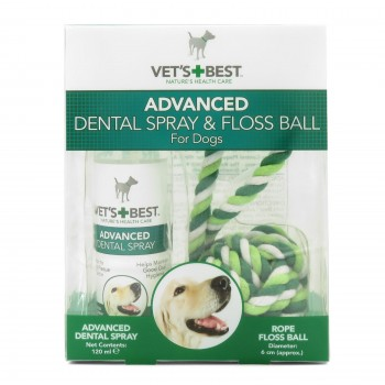 Vet's Best Dental Spray & Rope Ball Kit For Dogs