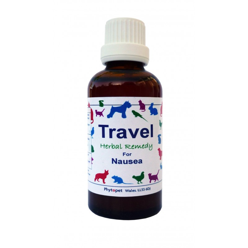 Phytopet Travel,herbal remedy to relieve travel sickness dog, cat