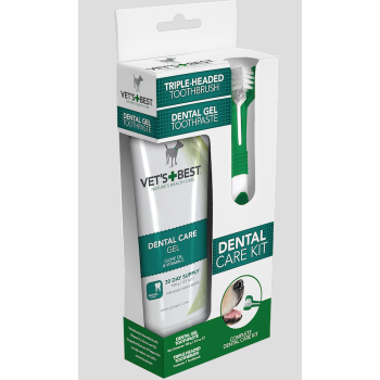 Vet's Best Dental Care Kit for Dogs - gel + brush
