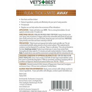 Vet's Best Flea, Tick & Mite Away spray 500ml for Dogs