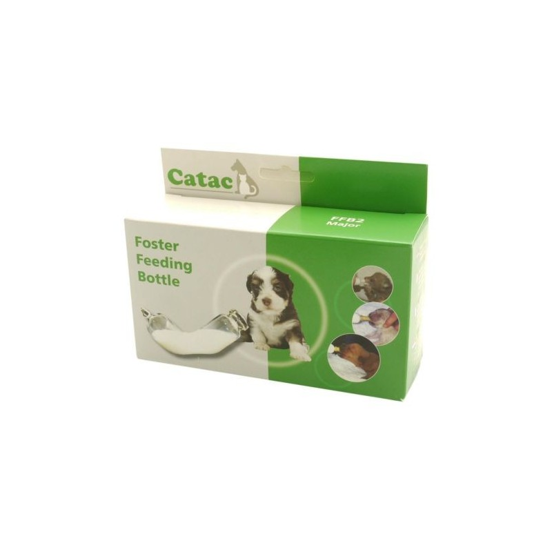 Catac Major feeding kit, containing one 60cc feeding bottle, one bottle brush, and 2 packs of teats